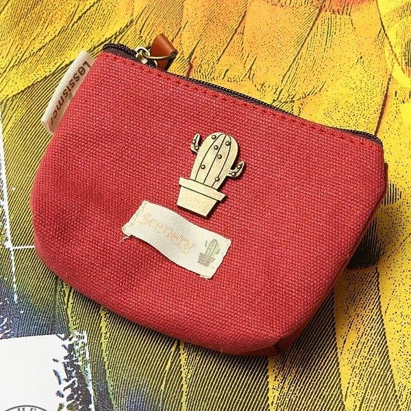 Creative Retro Canvas Key Case Purse Short Bag Clutch Belt Wallet Handbag Zip Wallet