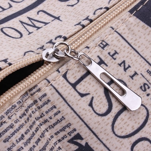 Fashion Retro Newspaper Printing Pattern Handbag Crossbody Bag