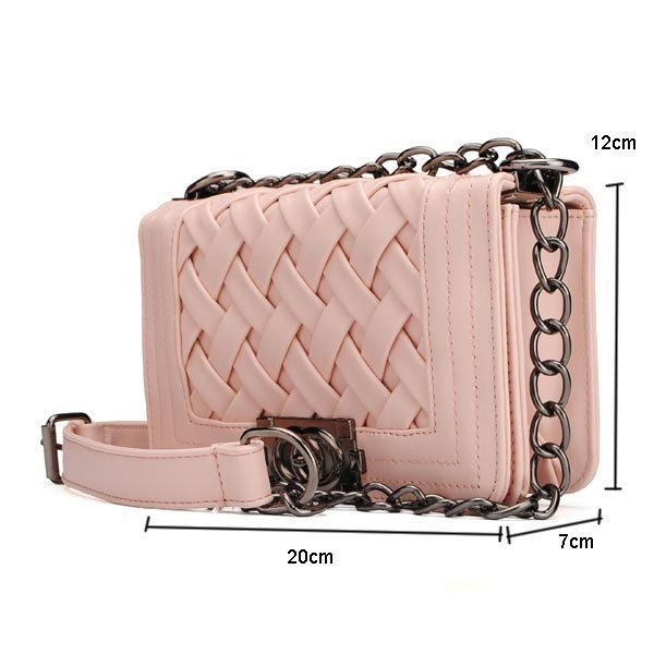 Women Small Plaid Knitted Chain Bag Shoulder Bag