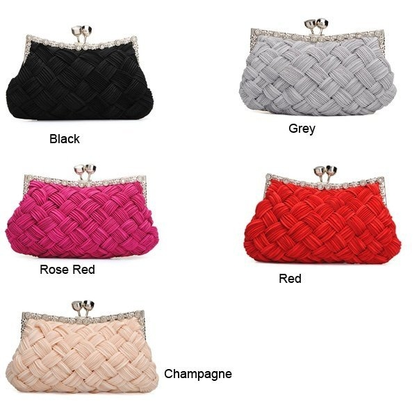 Fashion Elegant Lady Evening Patry Bag Bride Knitted Clutch Bag