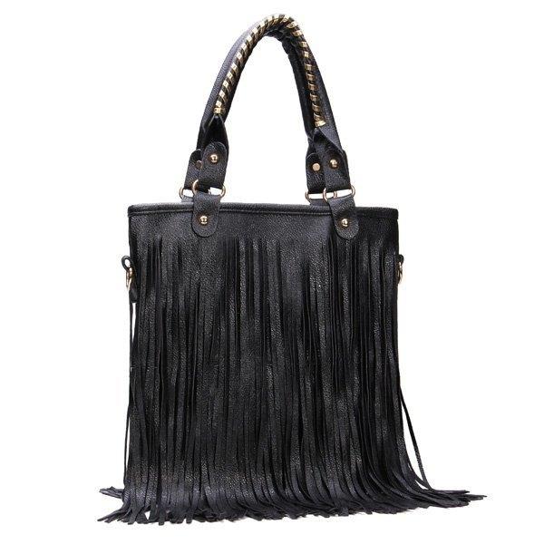 Korean Style Long Tassel Rivet Bag Women Shoulder Messenger Handbag
