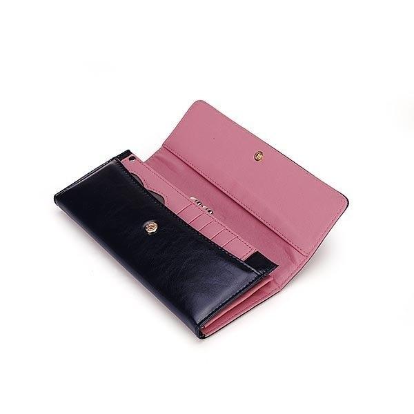 Korean Fashion Waxy PU Leather Retro Women Wallet Clutch Long Purse