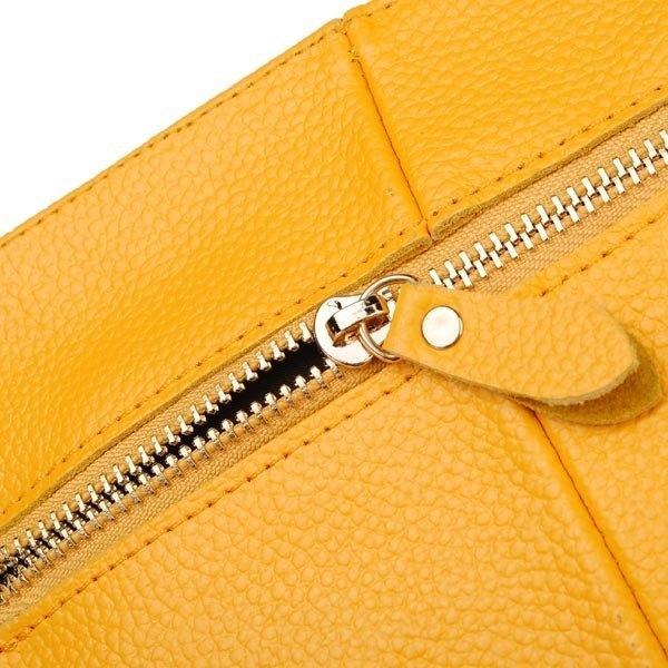 Leather Pure Color Lady Clutch Bag Evening Bag Handbag