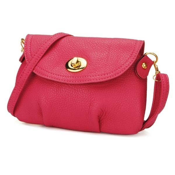 Women's Pure Color PU Leather Handbag Satchel Shoulder Cross Body Bag Purse Bags