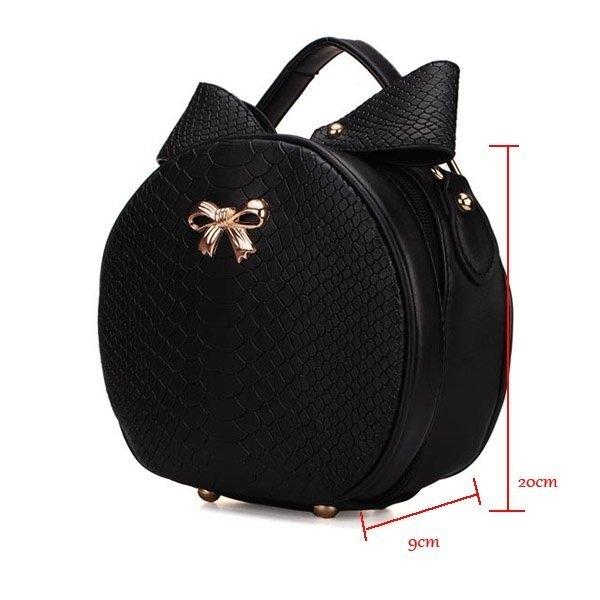 Fashion Girls Small Bowtie Rabbit Ears Round Shoulder Cross Body Bag