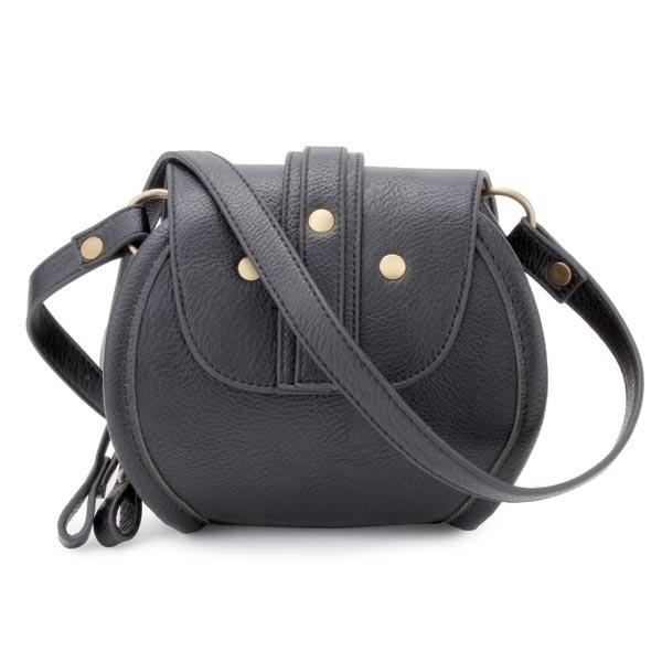 Fashion PU Leather Belt Decorated Double Zipper Mini Crossbody Bag