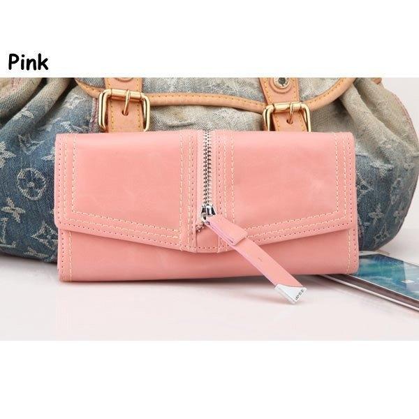 New Fashion Women PU Leather 3 Folds Purse Long Clutch Zipper Wallet