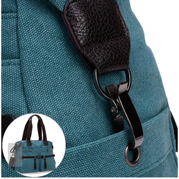 Exquisite Hook Of Multi Pocket Canvas Handbags