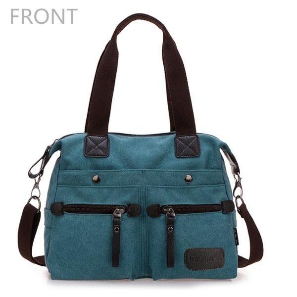 Front Of Multi Pocket Canvas Handbags