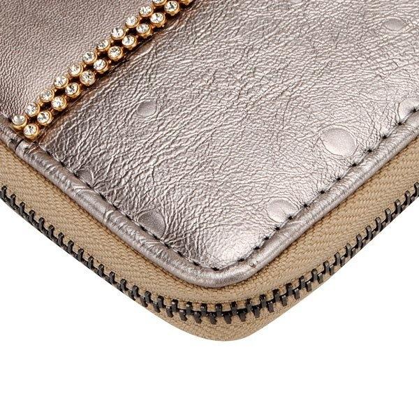 Fashion Rhinestones Women Retro Long Zipper Purse Clutch Wallet