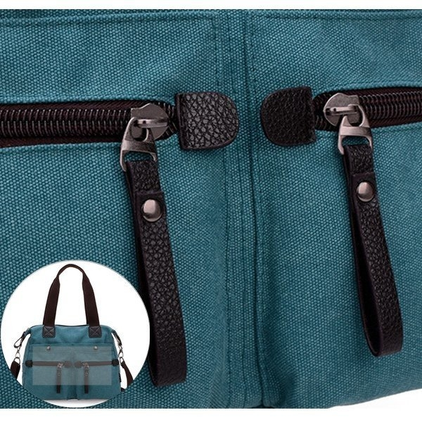 Pocket Detail Show Of Multi Pocket Canvas Handbags