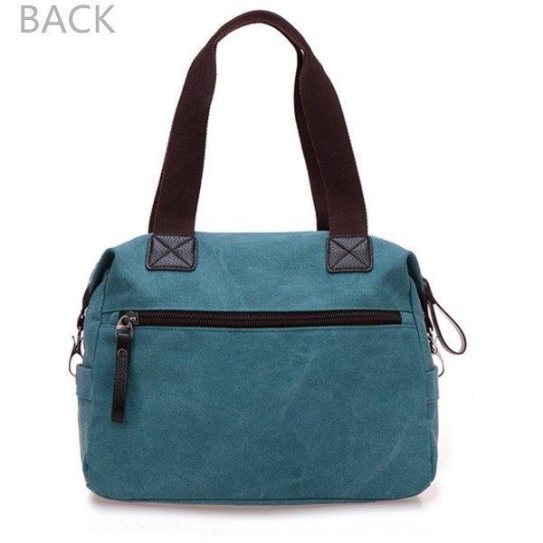 Back Show Of Multi Pocket Canvas Handbags