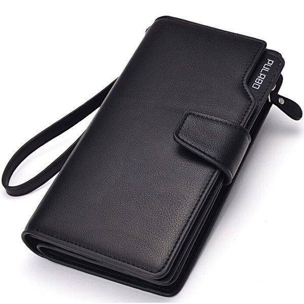 Men Long Wallet Zipper Credit Cards Mobile Phone Holder
