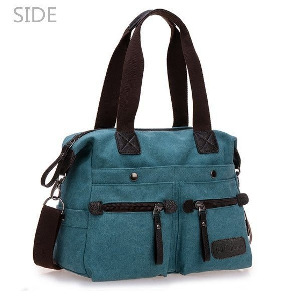 Side Of Multi Pocket Canvas Handbags