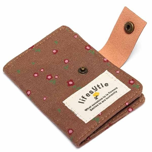 Women Canvas Floral Card Bag Wallet Coin Purse