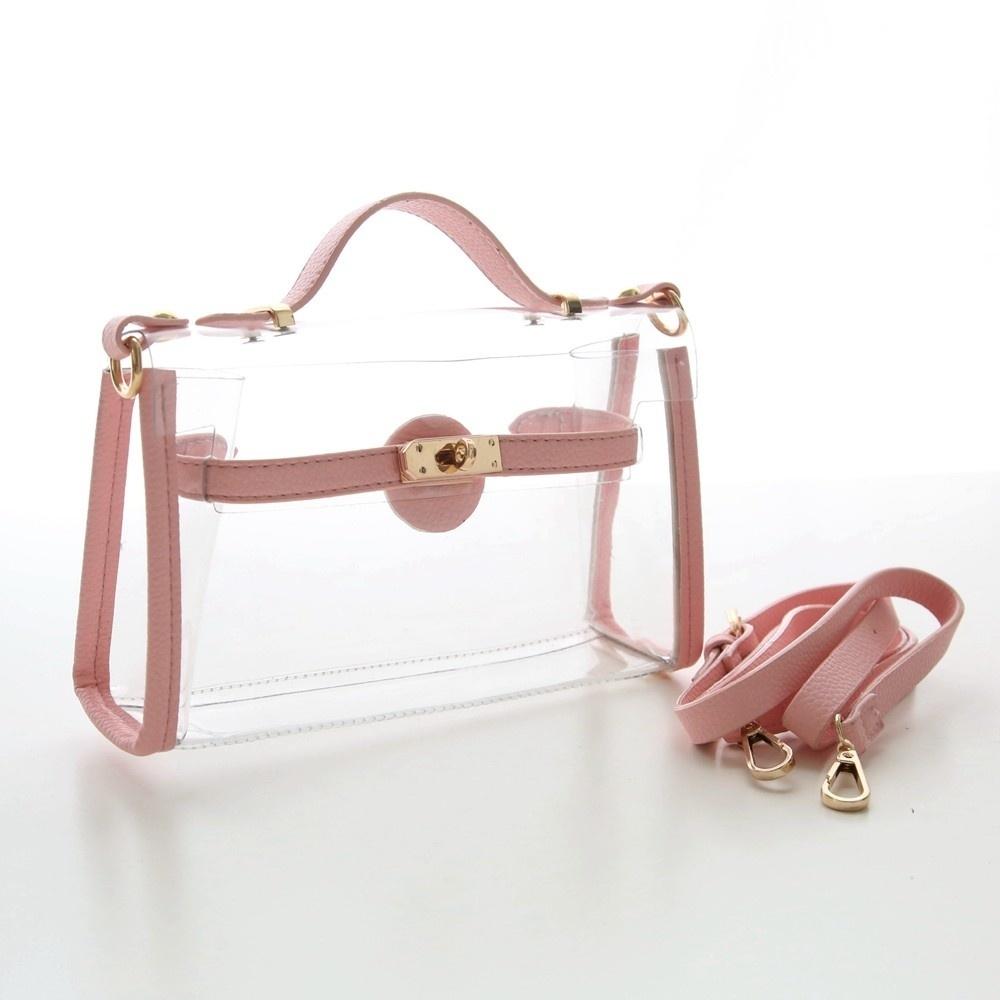 Transparent beach women bag bling jelly leather shoulder bag solid  messenger bag designer handbags high quality cac77f2d3e