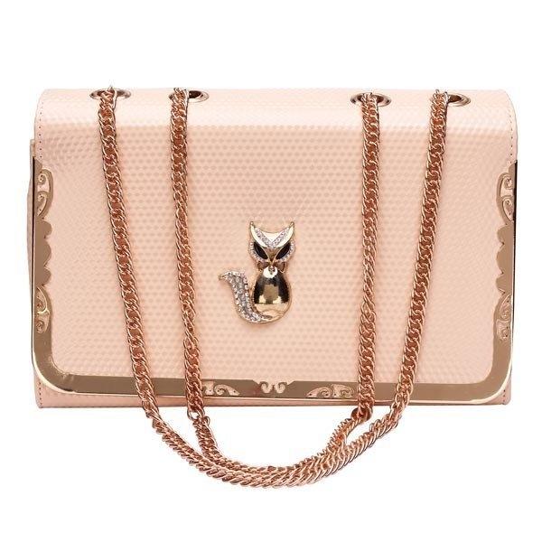 New Fashion Women Fox Chain Shoulder Bag Cross Body Bag