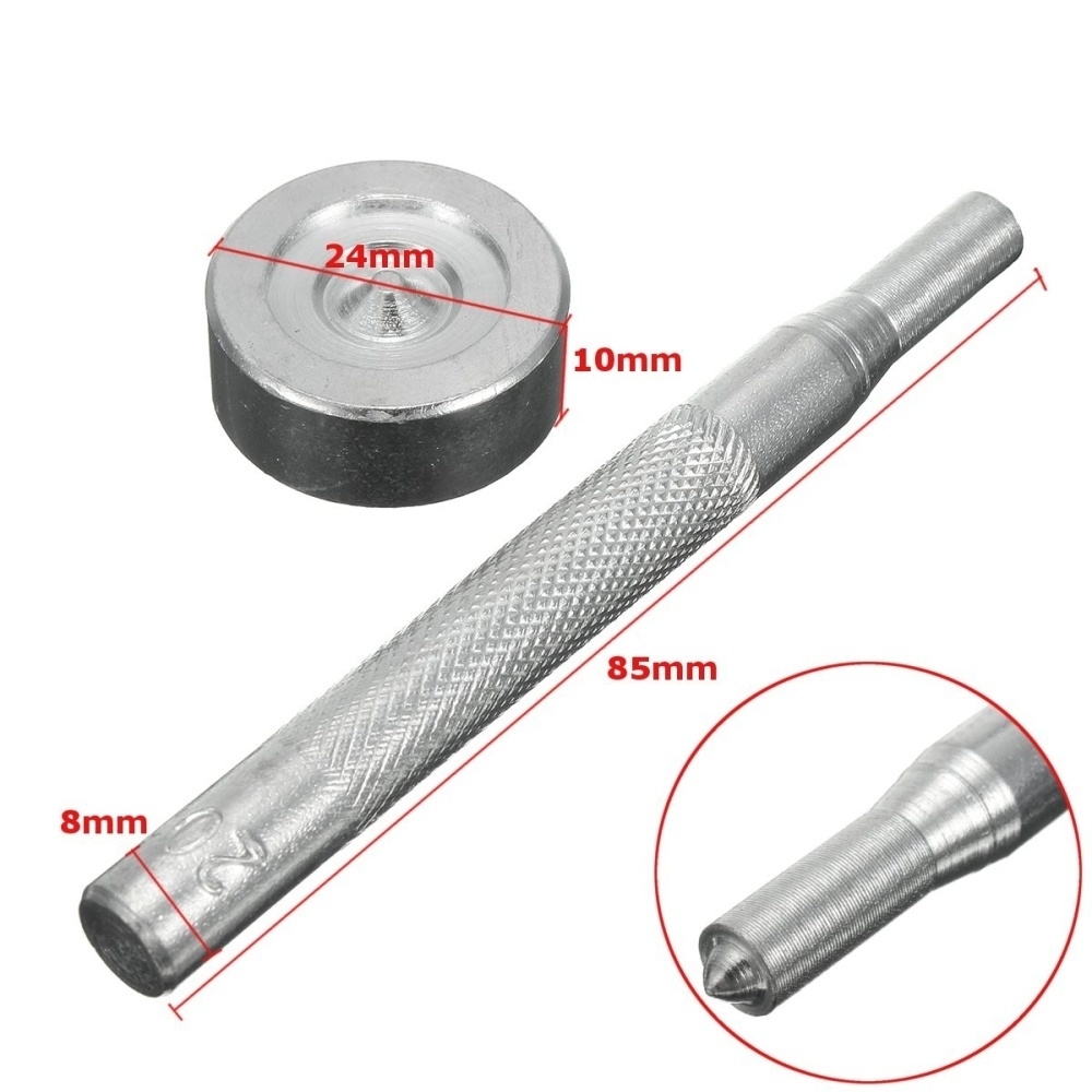 Boat Cover/Canopy Fittings - Snap Fastener Stainless Canvas To Screw Tool