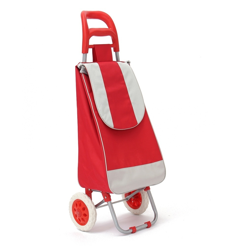 Red NEW Folding Festival Grocery Shopping Trolley Luggage Bag With Wheels 5 Colours
