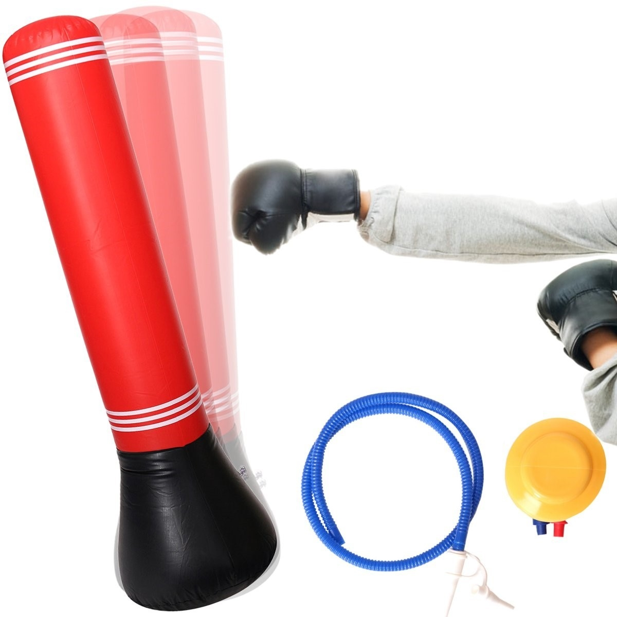 e132a9749cb73 Inflatable Punching Bag Stand Power Tower For Speed Boxing Training ...