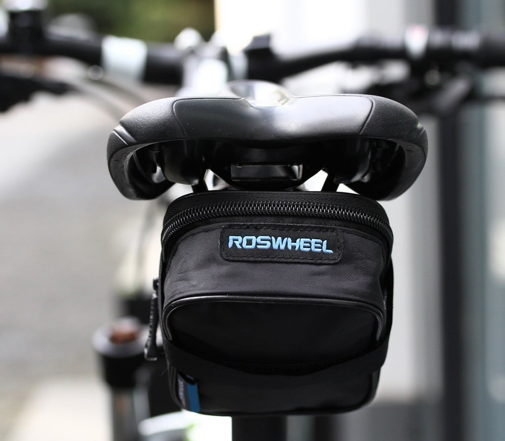 Roswheel 13877 Bike Bicycle Saddle Bag Seat Bag Tool Pouch Pack with Velcro Strap