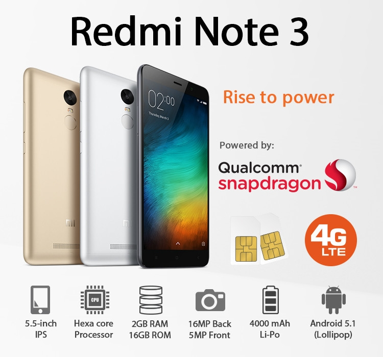 Xiaomi Redmi Note 3 Features