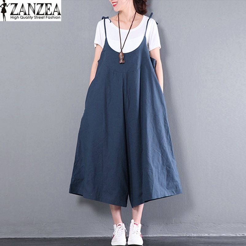 a27a87ce67b1 ZANZEA ZANZEA Women Summer Dungaree Casual Loose Jumpsuit Playsuits ...