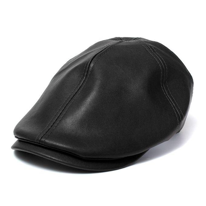 Unisex Leather Lvy Caps Bonnet Newsboy Beret Cabbie Gatsby Flat Golf Hats -  Intl 7241c41ca54