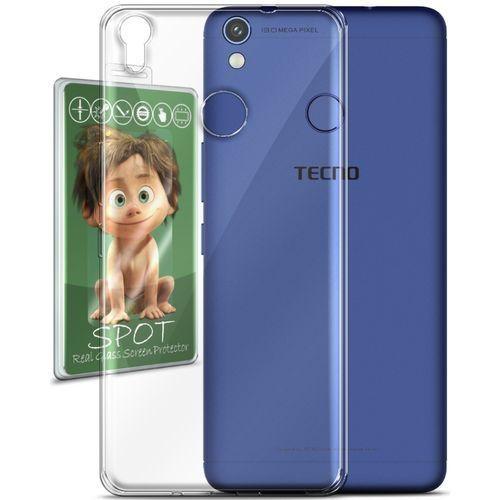 cheap for discount 0ebf2 f4c44 Silicon Cover For Tecno CX Air - Clear + Spot Glass Screen Protector
