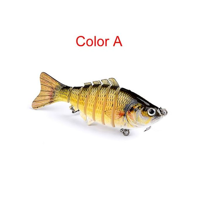 1PC Fishing Lures 10cm Plastic Hard Bass Baits 5 Colors Minnow Lures