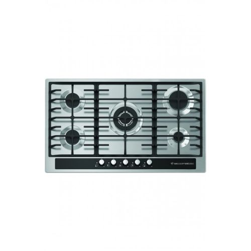 S903gc Glass Lined Inox Hob - 90cm - Black/Silver