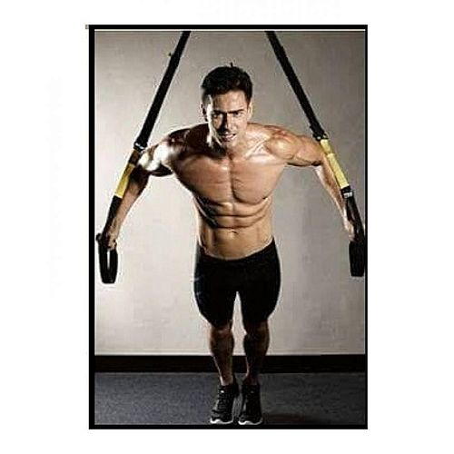 Sale on trx resistance band suspension training home gym black