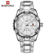 b385d16ee97d5 NAVIFORCE Fashion Casual Brand Waterproof Quartz Watch Men Military  Stainless Steel Sports Watches Man Clock Relogio