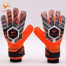 4fc361440 Professional Soccer Kids Fingersave Goalkeeper Gloves With Finger  Protection Football Goalie Gloves Sizes 6 5 7