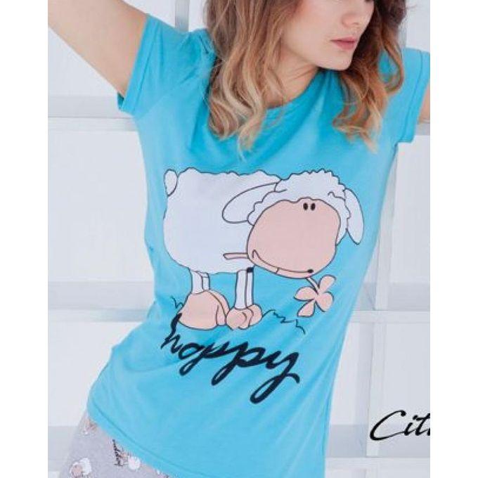 a71893519e06 Sale on Women Summer Cotton Pyjamas Sizes Up To 5XL - Turquoise ...