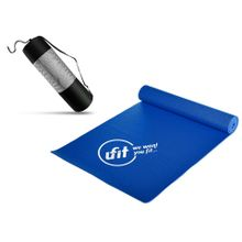 b654ce645d2 PVC Yoga Mat With Carrying Bag - 6 MM - Blue
