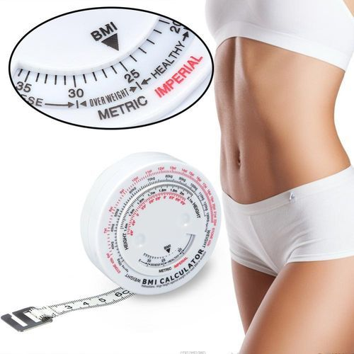 Beauty Body Mass Index Round Fat Fitness Measuring Body Retractable Tape