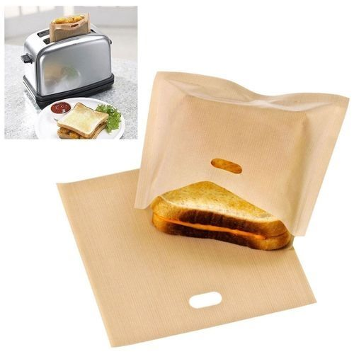 Reusable Toaster Toastie Sandwich Toast Bags Pockets Toasty Toastabags