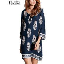2e1ed9982 ZANZEA Bohemia Women Ethnic Kimono Beach Party Loose Plus Short Mini Dress