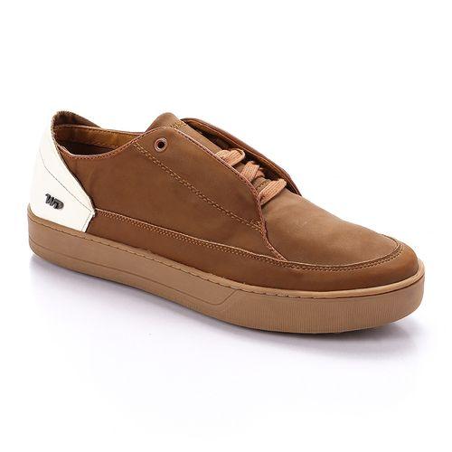 Lace Up Plain Shoes - Camel