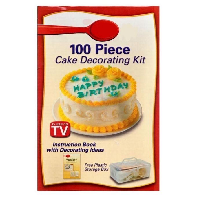 As seen on tv cake decorating kit 100 pcs buy online for 100 piece cake decoration kit