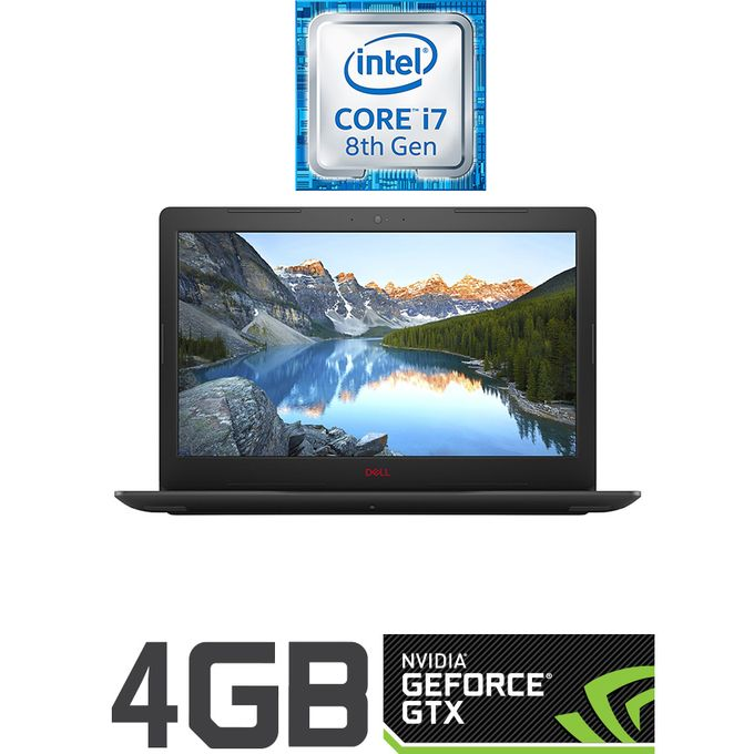 DELL G3 15-3579 لاب توب ألعاب - انتل كور i7 - رام 16 جيجا بايت - هارد HDD 1 تيرا بايت + SSD 512 جيجا بايت - شاشة FHD 15.6 بوصة -رسومات 4 جيجا بايت - Ubuntu - أسود