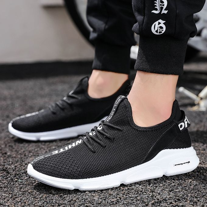 One-legged Flying Woven Fabric Men And Women Breathable Sports Casual Couple Shoes Korean Version Of The Trend Of Shoes Shoes Men's Casual Shoes