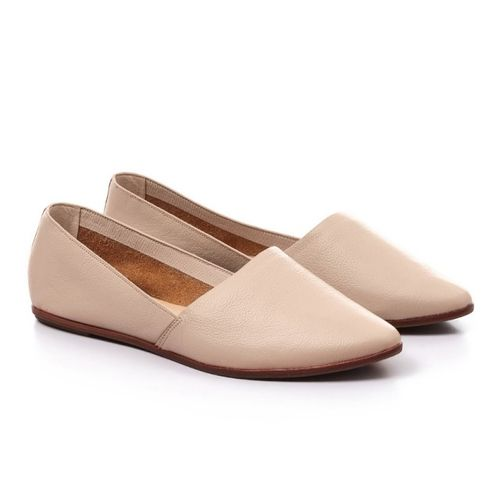 Low-Key Leather Nude Slip-Ons