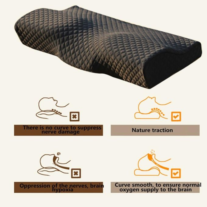 Health Care Neck Pain Release Pillow Slow Rebound Memory Latex Magnetic Pillow –  مصر