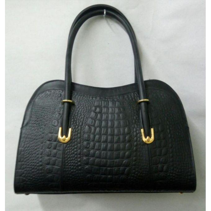fde64b03f4609 حقيبة جلد طبيعي نسائية - اسود - حقائب الكتف - Jumia مصر