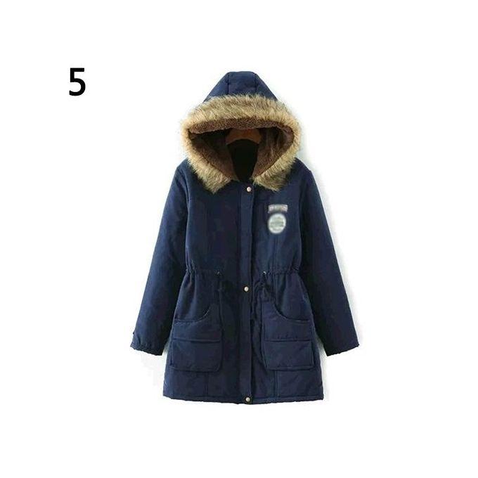 Sanwood Fashion Winter Warm Women Cotton Faux Fur Hooded Jacket ...