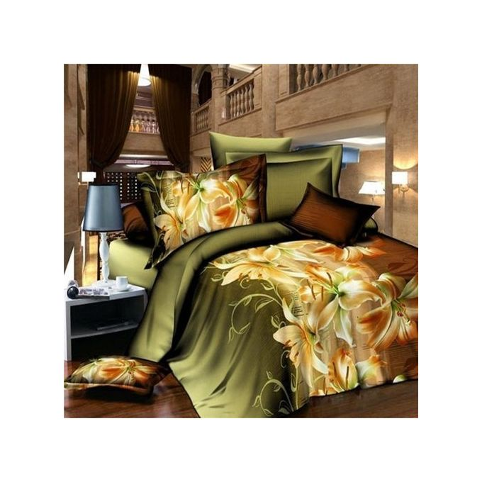 3D Lily Double Size Bedding Sheet Pillowcase Set Printed Duvet Cover –  مصر