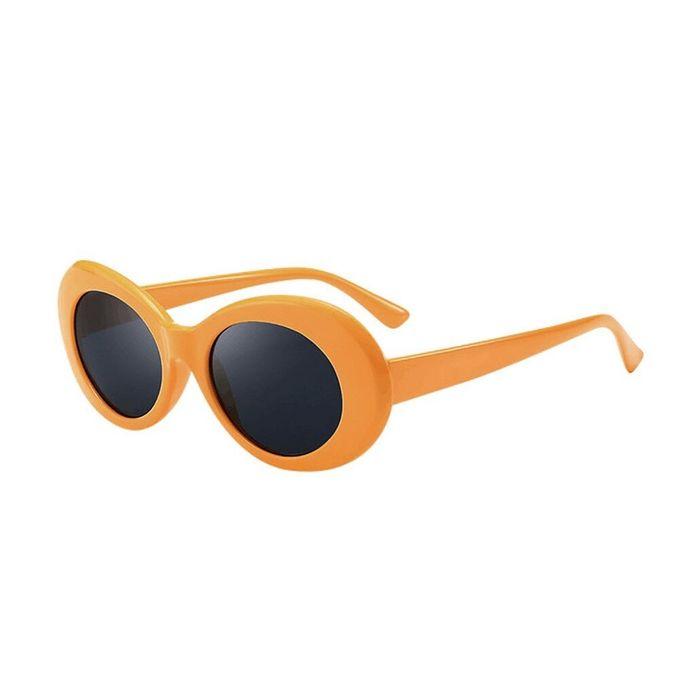 40e1554a2566c Personalized Retro Vintage Clout Goggles Unisex Sunglasses Rapper Oval  Shades Grunge Glasses