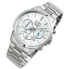 ca3324f1c Men  039 s Hand Watch PRESTIGE Stainless Steel Bracelet And Silver  Patterned Dial AT3B89X1